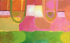 August Fields 30 x 48 Diptych Oil on Canvas