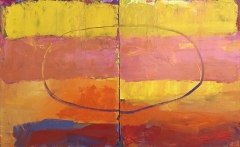 Come Back Again 30 x 48 Diptych Oil on Canvas