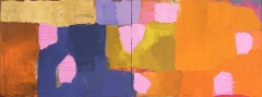 Scattered Patterns 30 x 80 Diptych Oil on Canvas